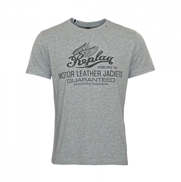 Replay T-Shirt Shirt Rundhals M3597.000 2660.M03 DARK GREY MELANGE WJ19-RPS2