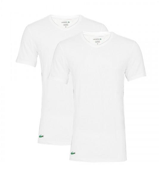 Lacoste 2er Pack T-Shirts V-Ausschnitt 148322 weiss white