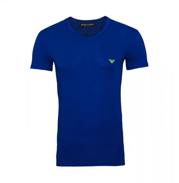 Emporio Armani T-Shirt V-Neck 110810 9P723 15834 blau FS19-EAT1