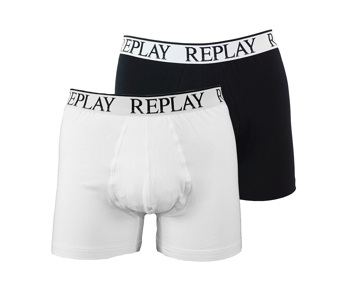 Replay 2er Pack Shorts Boxershorts M606001 001 schwarz weiss gp