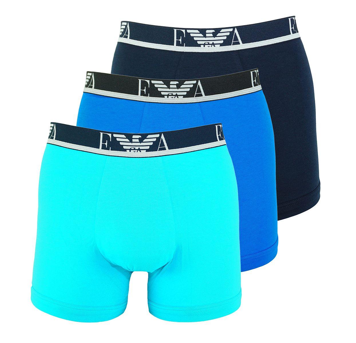 Emporio Armani 3er Pack Shorts Boxer Unterhose 111473 8P715 12583 TURCHES/MARINE/CIELO W18-EABZ1