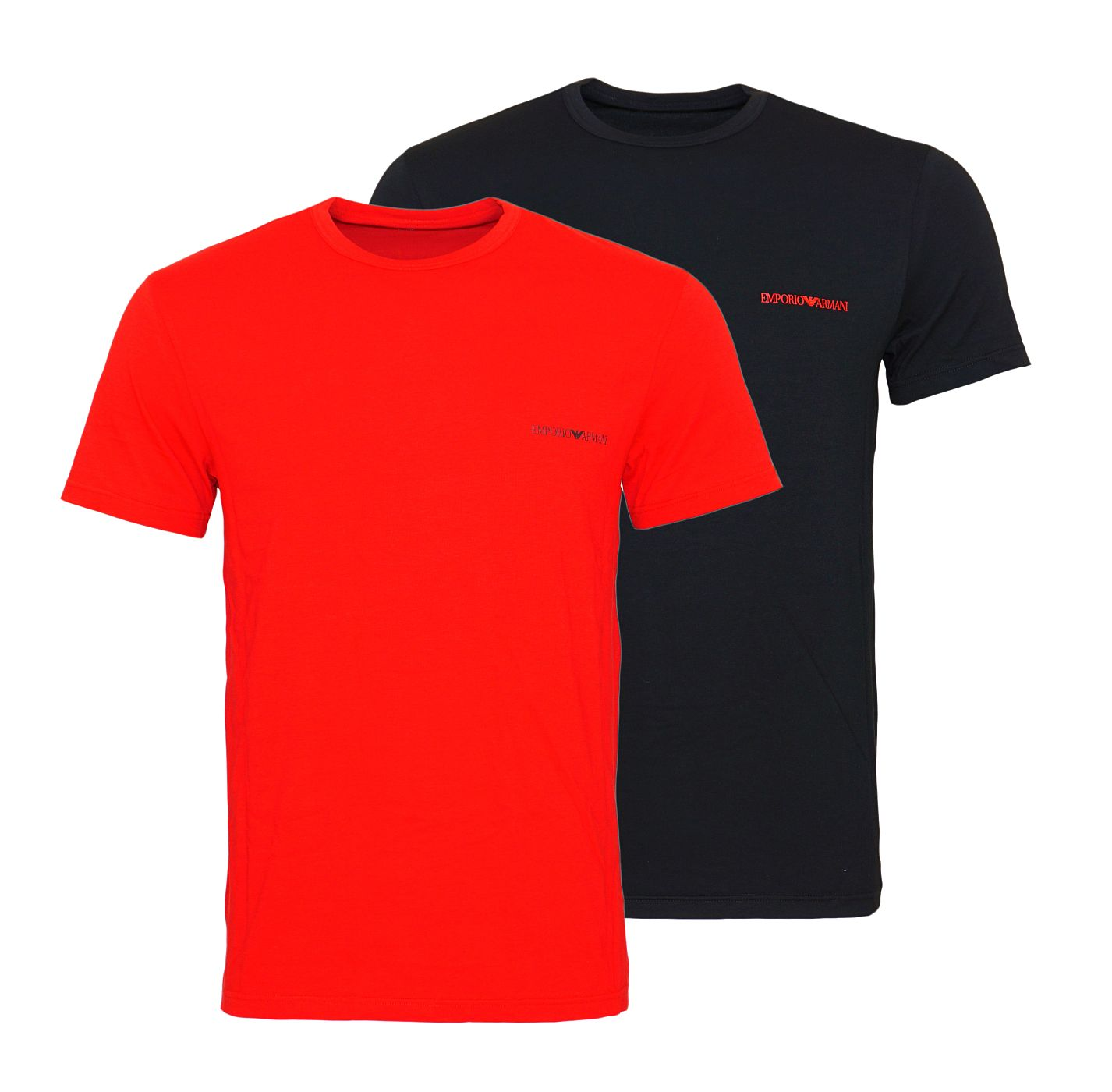 Emporio Armani 2er Pack T-Shirts Rundhals 111267 8A717 02520 NERO/RUBINO SH18-EAT1