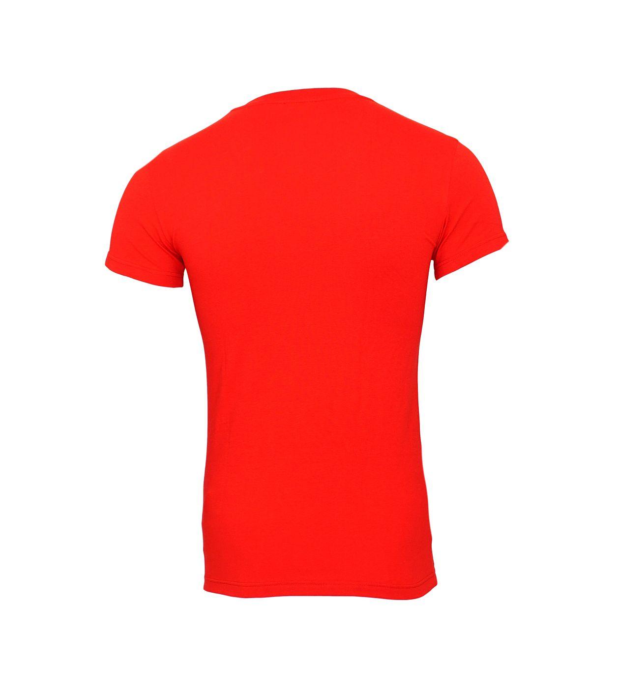 Emporio Armani T-Shirts V-Ausschnitt 110810 8A516 13174 RUBINO SH18-EAT2
