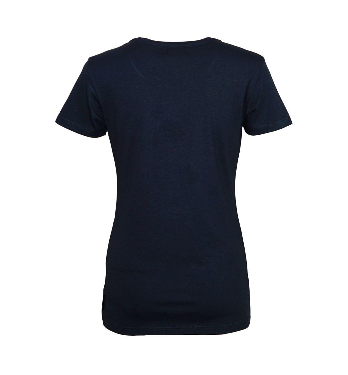 Emporio Armani Damen Shirt T-Shirt V-Ausschnitt 163321 7A263 00135 MARINE HW17-EADS1