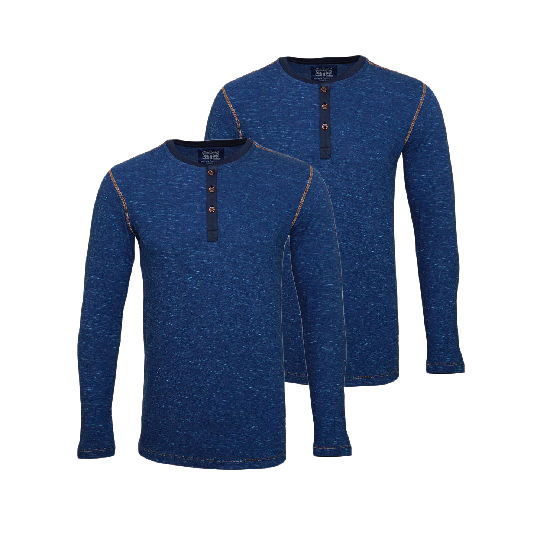 LEVIS Shirts 2er Pack Henley Longsleeve Shirt Blue Jeans 972002001 599 SF17-LVLV2