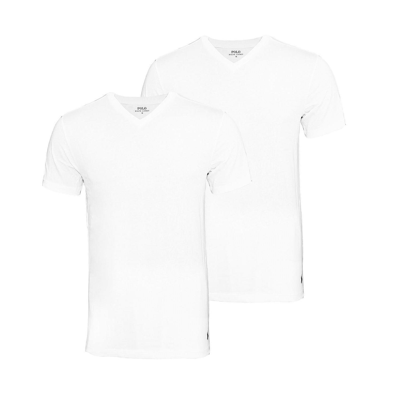 2er Pack Ralph Lauren T-Shirts weiss 252U2PVKCRCCTA 1000 HW16
