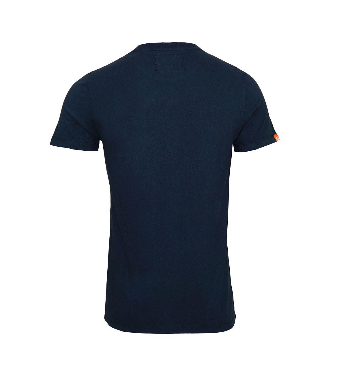 Superdry T-Shirt Orange Label VNTGE EMB VEE Tee M10001NS1 Eclipse Navy F18-SDT1