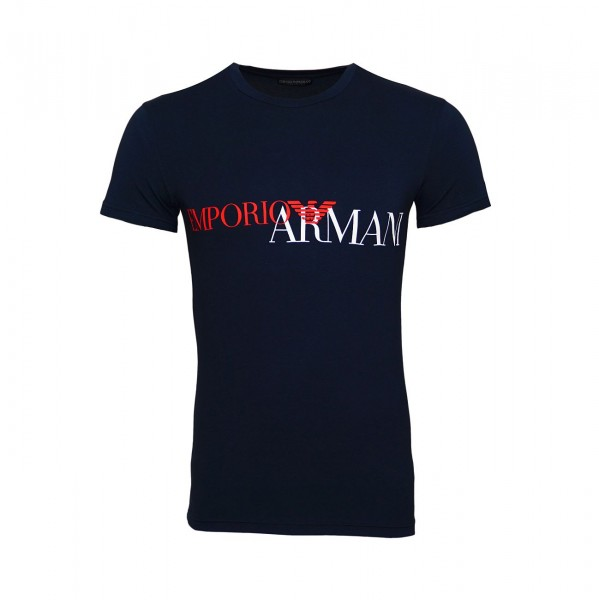 Emporio Armani T-Shirt Rundhals 111035 9P516 00135 navy WF19-EAT2