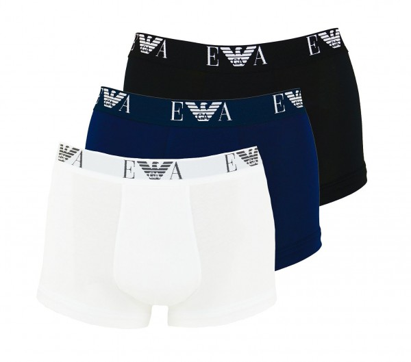 Emporio Armani 3er Pack Trunk Shorts 111357 CC715 56110 white, navy, black WF19-EAT1
