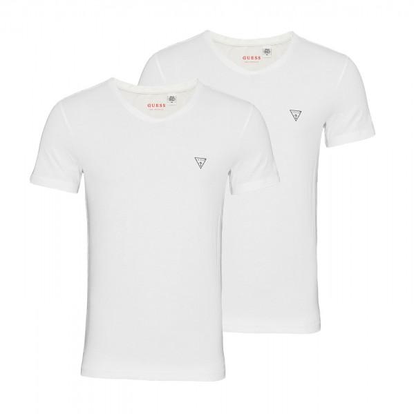 Guess 2er Pack T-Shirt V-Neck U97G03JR003 A009 white WF20-GT1