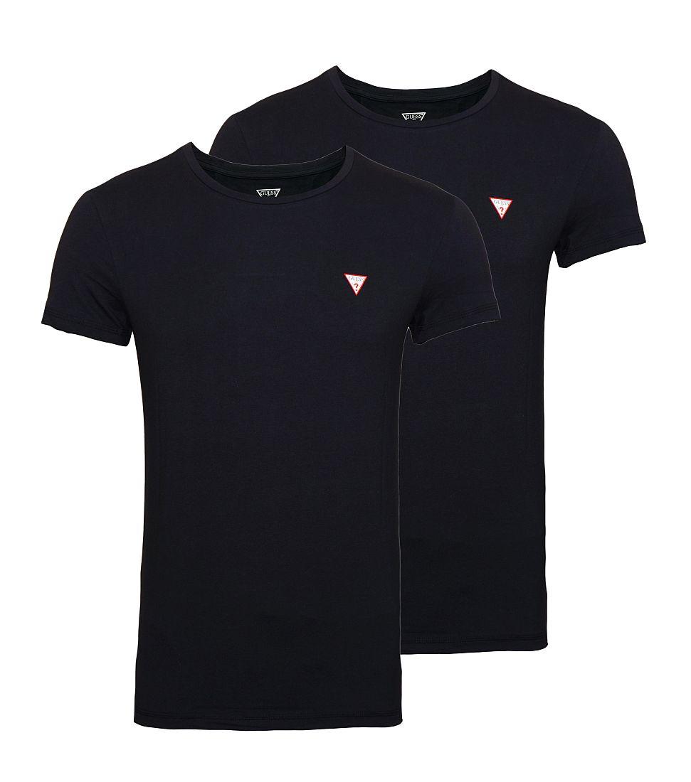 GUESS 2er Pack T-Shirt Shirts schwarz U77G13JR002A996 A996 WF17-GUS1