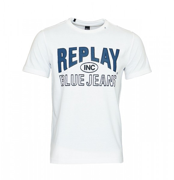 Replay T-Shirt Shirt Rundhals M3598.000 2660.001 weiß WJ19-RPS2