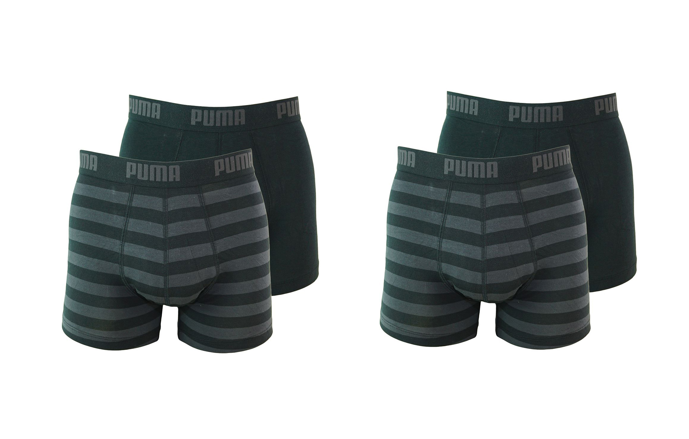 PUMA Shorts Unterhosen 2 x 2er Pack Boxer 651001001 200 020 black SF17-PMS2