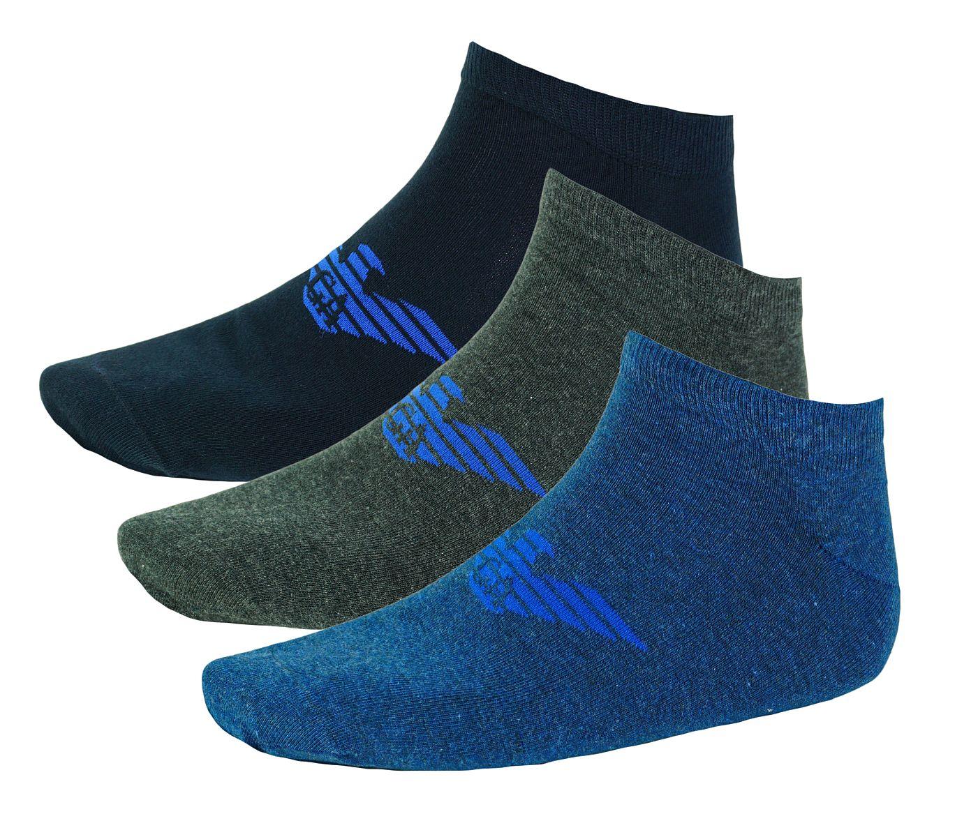 Emporio Armani 3er Pack Strümpfe Socken 8929BX Calza Inside 300008 7A234 HW17-EAX1