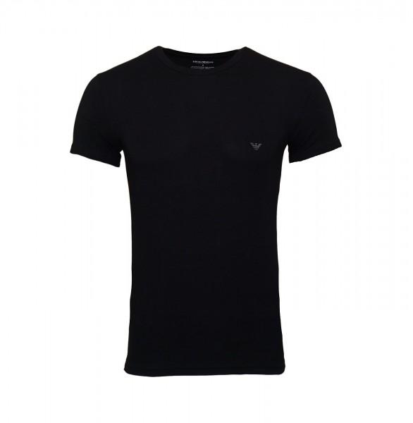 Emporio Armani T-Shirt Rundhals 111035 9P745 00020 schwarz FS19-EAT1