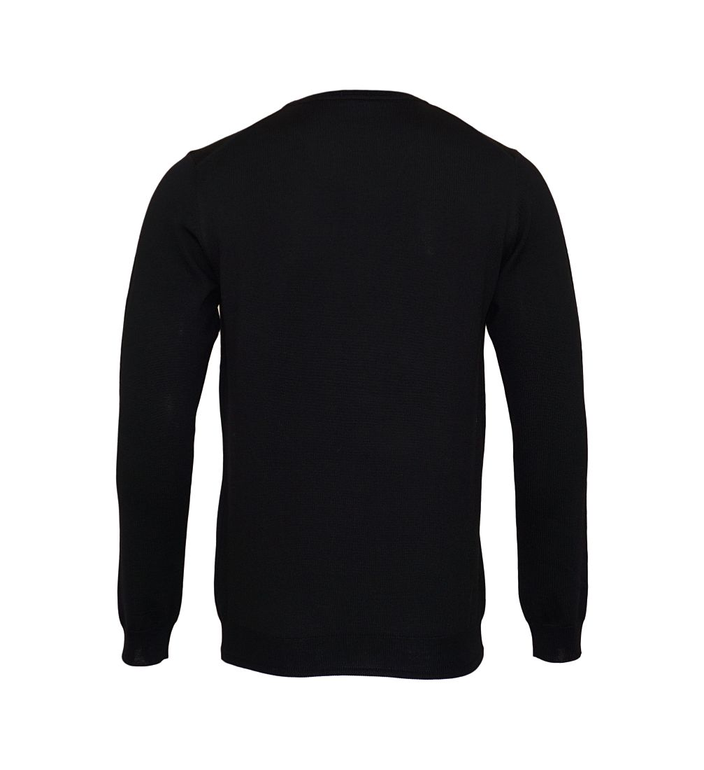 JOOP Strickpullover Pullover Denny Rundhals 10001600 001 schwarz S17-JOP1
