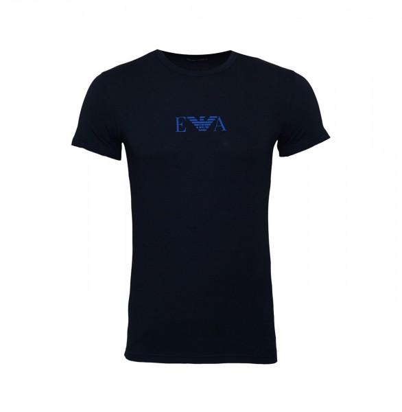 Emporio Armani T-Shirt Rundhals Crew-Neck 111035 9A715 00135 navy SS19-EAT1