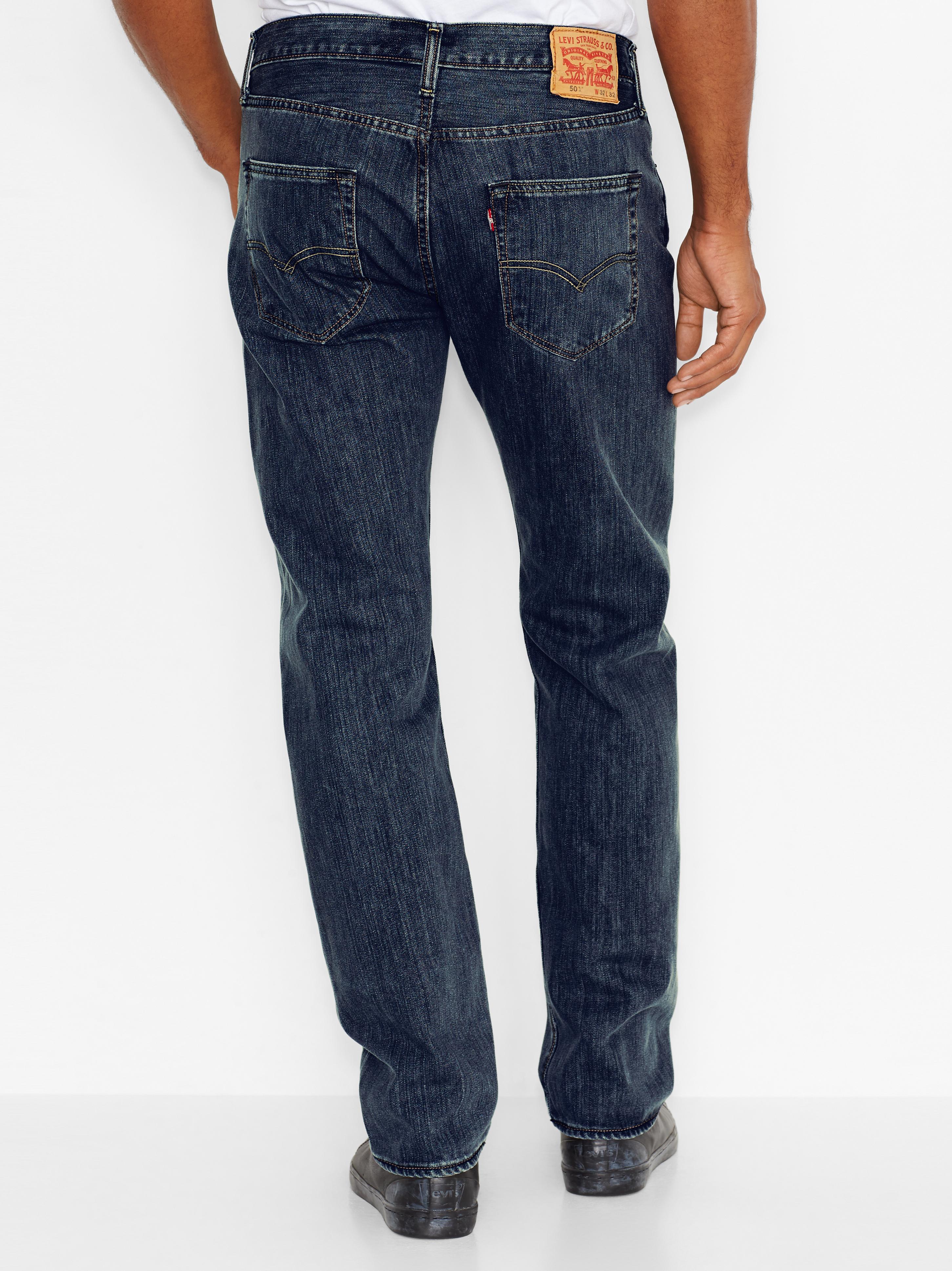 LEVIS Jeanshose Jeans 00501-0089 501 LEVIS ORIGINAL FIT DARK CLEAN W18-LJJ1