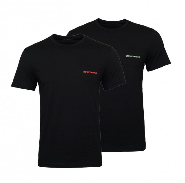Emporio Armani 2er Pack T-Shirts Rundhals 111267 9P717 23820 schwarz W19-EA2