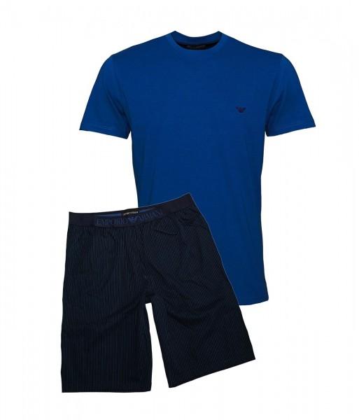 Emporio Armani Pyjama Shirt + Hose kurz 111360 9P567 57635 RIGA MARINE SS19-EAL1