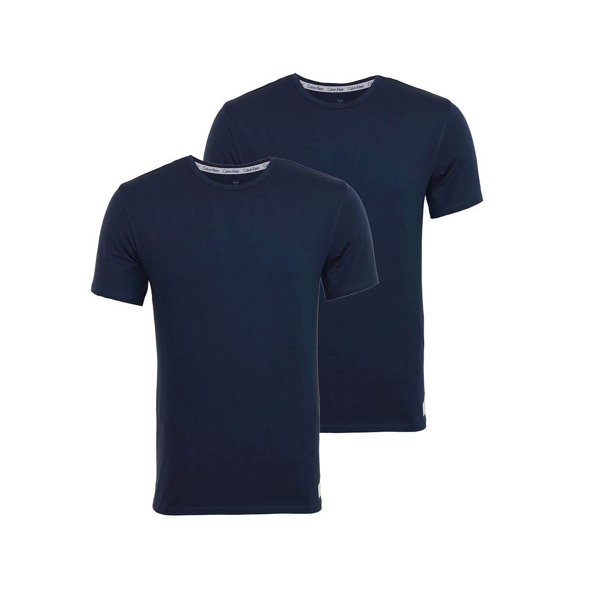 Calvin Klein 2er Pack T-Shirts Tee-Shirts CK16 Rundhals navy