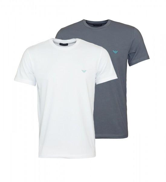 Emporio Armani 2er Pack T-Shirt Crew-Neck 111267 0P720 00610 white, grey WF20-EA1