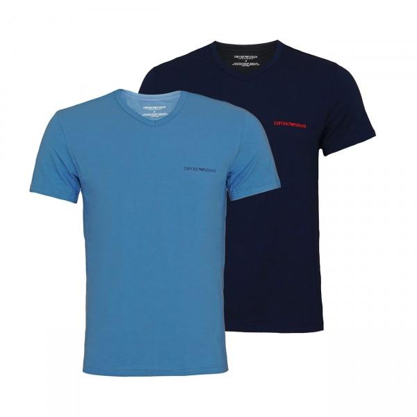 Emporio Armani 2er Pack T-Shirt V-Neck 111849 9A717 17331 blue, navy SH19-EAX1