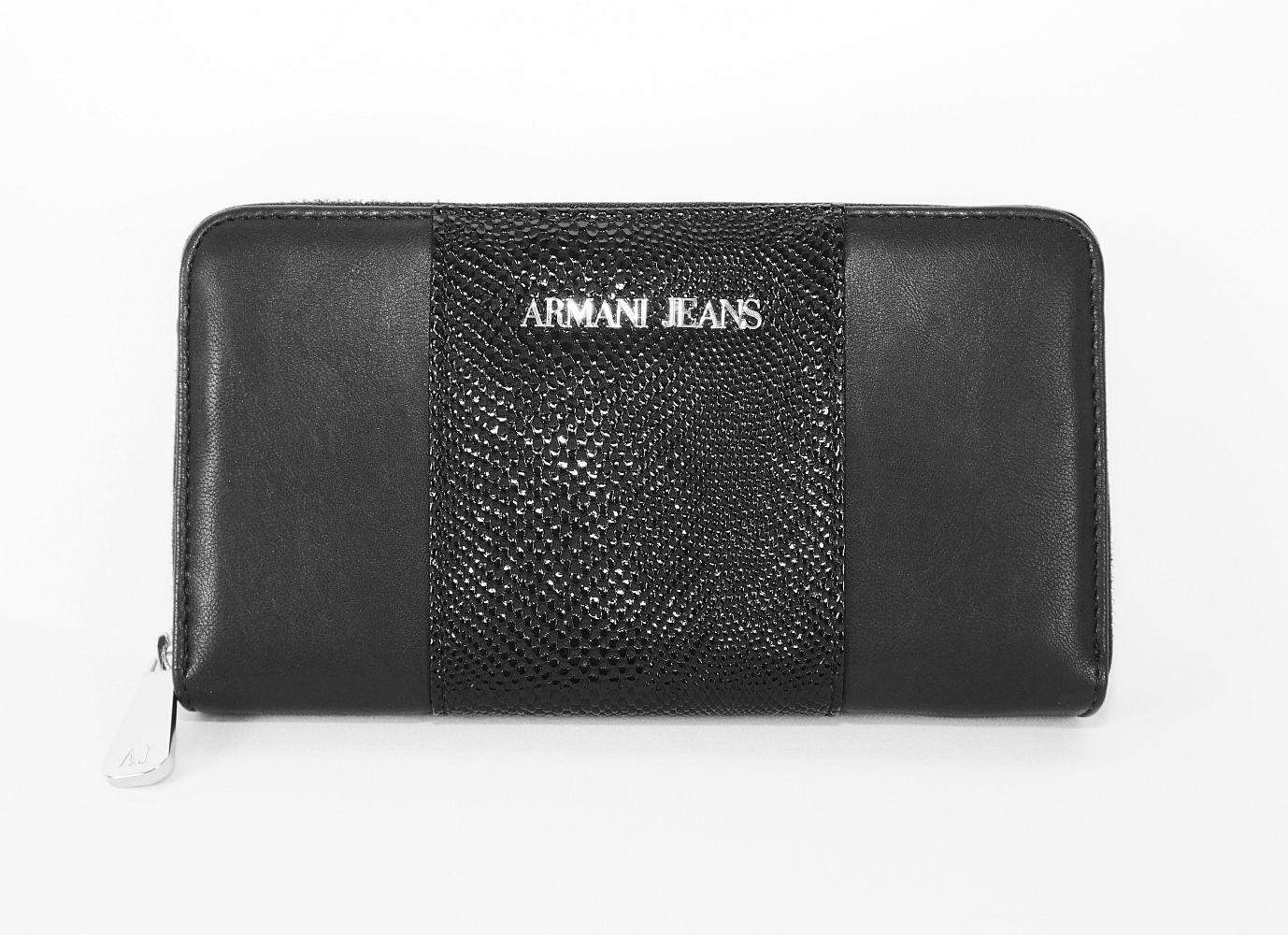 Armani Jeans Geldbörse Börse 928032 6A725 00020 Nero HW16-AJn