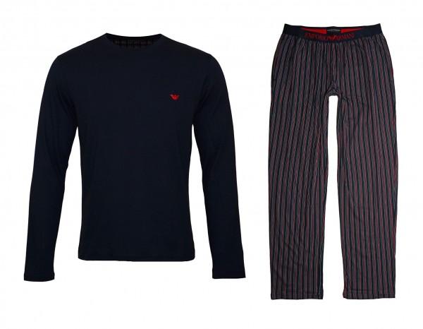 Emporio Armani Pyjamas Shirt Pant 111791 9A567 60635 navy SH19-EAX4