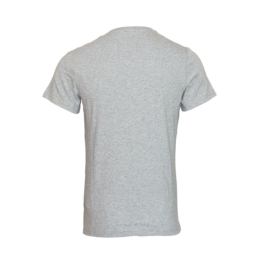 TOMMY HILFIGER Shirt T-Shirt grau Organic Henley SS 2S87905398 004