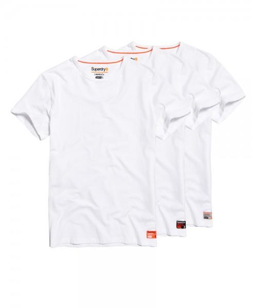 Superdry Laundry T-Shirt im 3-er Pack M31006NR weiß WJ19-SDT2