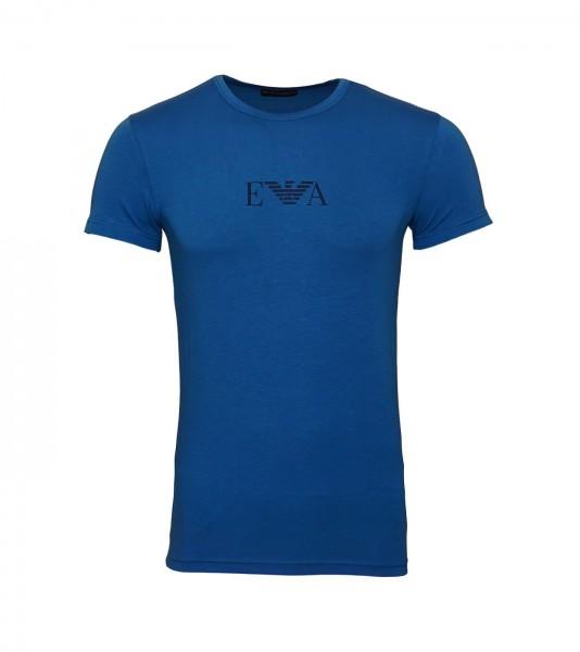 Emporio Armani T-Shirt Rundhals Crew-Neck 111035 9A715 16531 blau SS19-EAT1