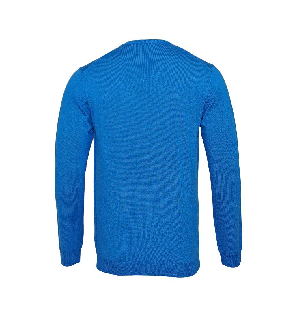 JOOP Strickpullover Pullover Damien V-Ausschnitt 10001600 442 blau S17-JOP1