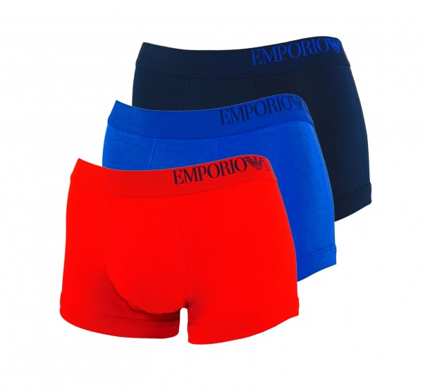 Emporio Armani 3er Pack Trunk 111357 0A713 33074 red, blue, navy HW20-AT1
