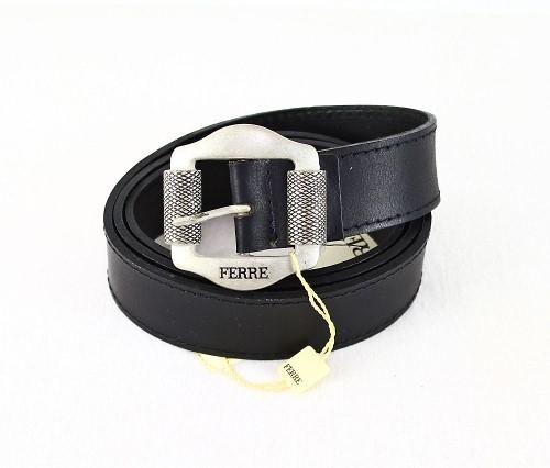 Gianfranco Ferre Ledergürtel Leder Gürtel 91021705 schwarz 110 cm