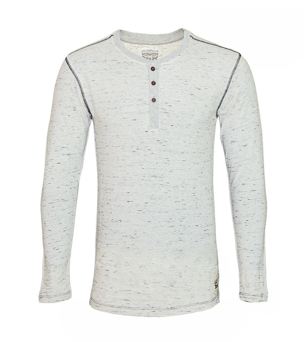 LEVIS Shirts Longsleeve Henley 972002001 032 Grey Melange SF17-LVLV1