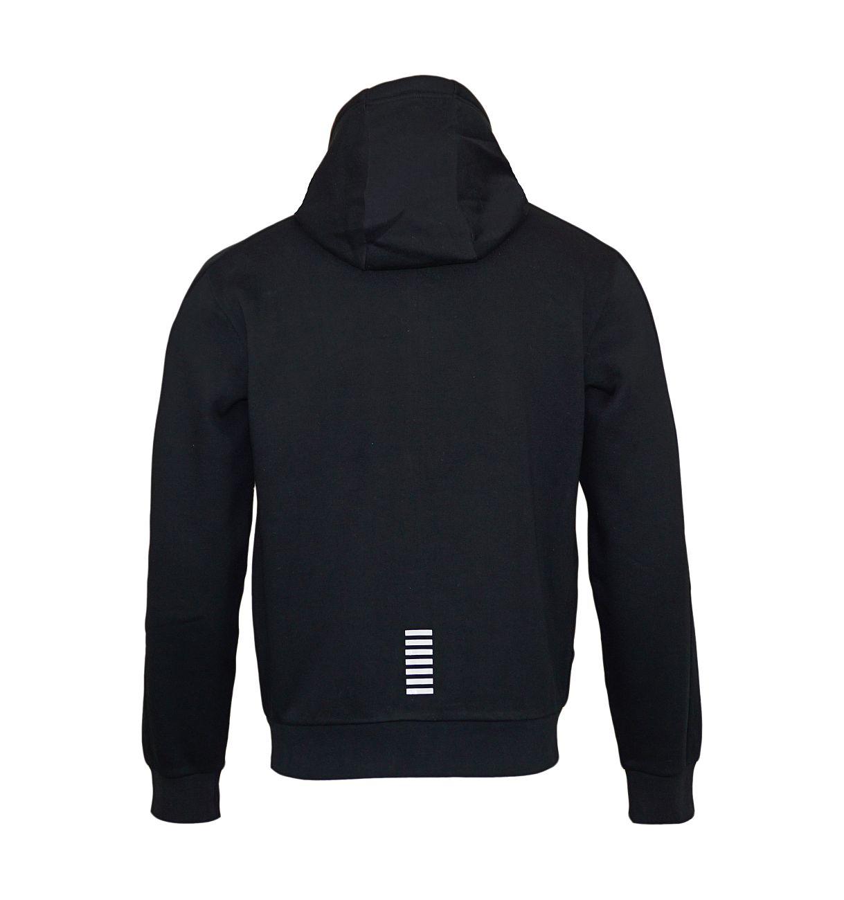 EA7 Emporio Armani Sweatshirt Jacke Hoodie 6YPM59 PJ07Z 1200 Black SH18-EA7S