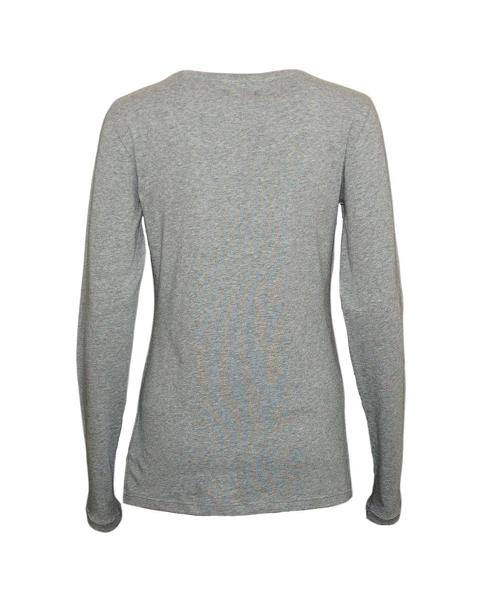Emporio Armani Damen Shirt Longsleeve Rundhals 163229 7A263 06749 GRIGIO MELANGE SCURO HW17-EADL