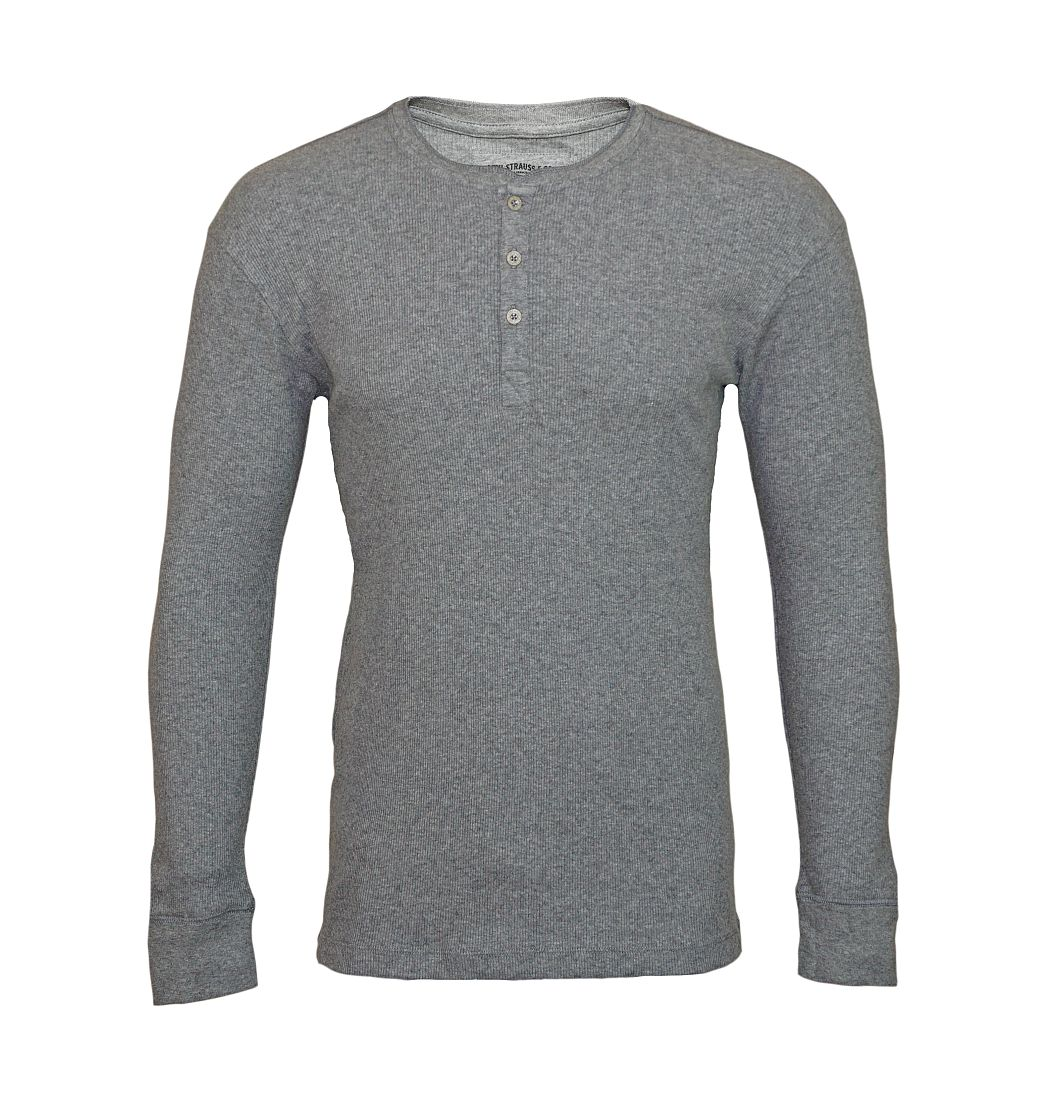 LEVIS Shirts Longsleeve Henley 961023001 758 Middle Grey Melange SF17-LVLV1