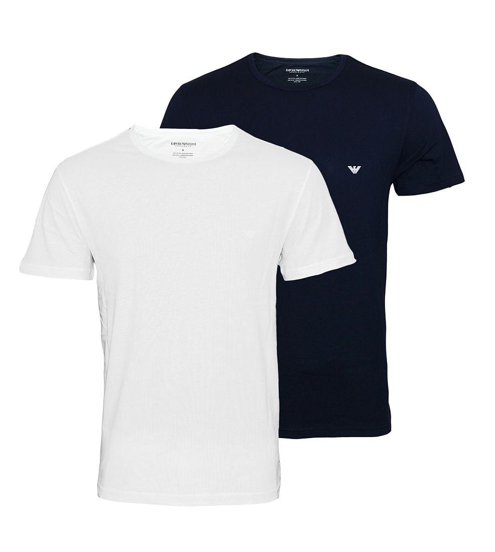 Emporio Armani T-Shirts 2er Pack Shirts 111267 7P722 17135 MARINE/BIANCO S17-EANT1