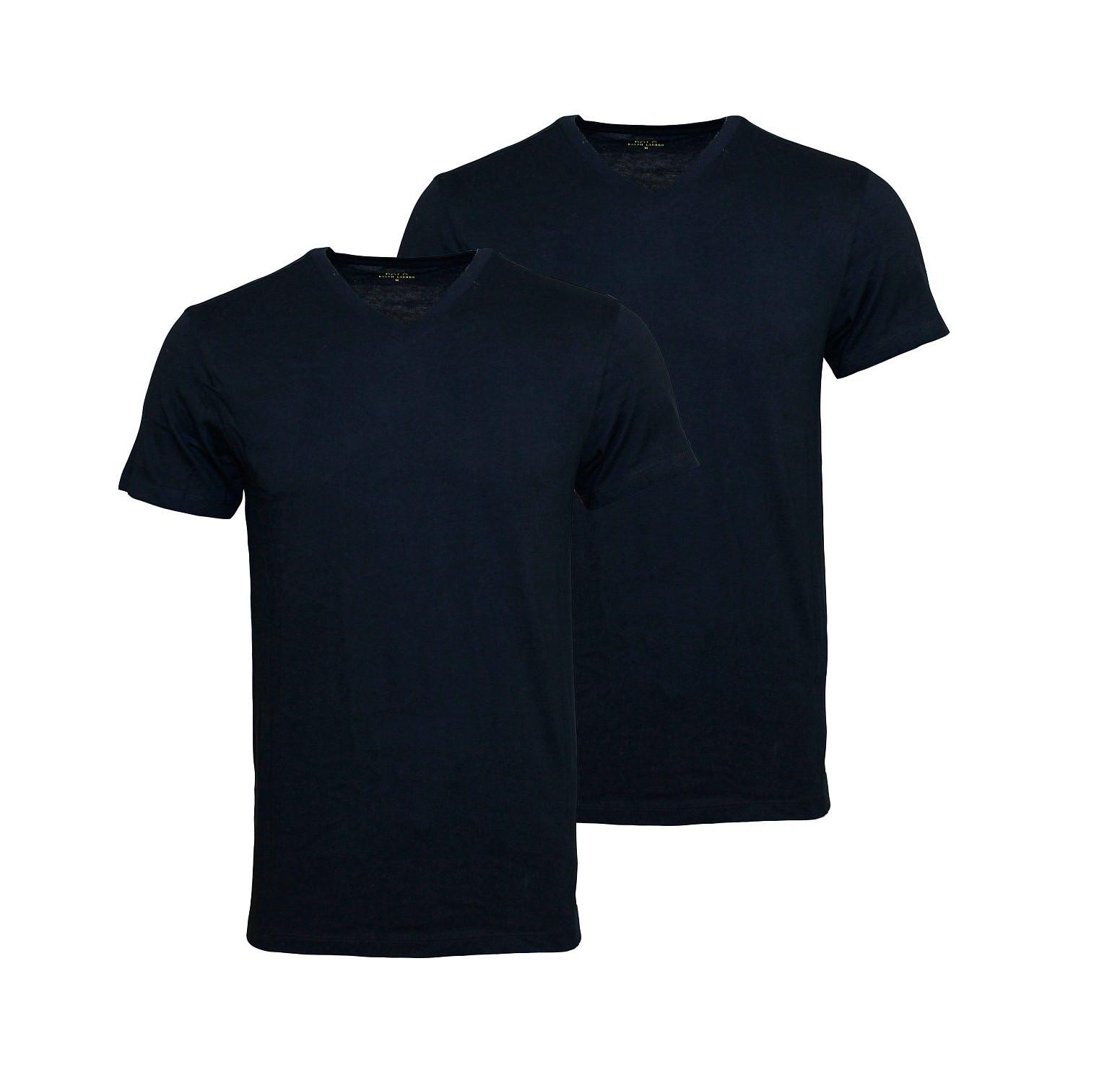 2er Pack Ralph Lauren T-Shirts schwarz 252U2PVKCRCCTA 0001 HW16