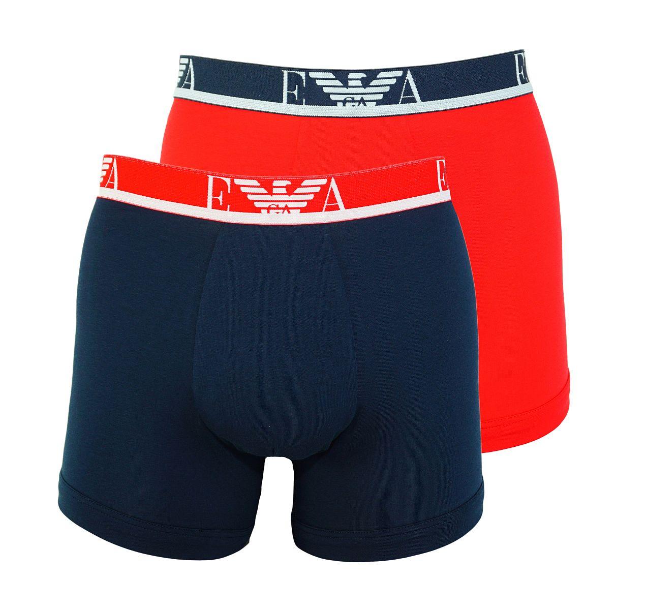 Emporio Armani 2er Pack Shorts Boxer Unterhose 111268 8P715 26674 TANGO RED/MARINE W18-EAB1
