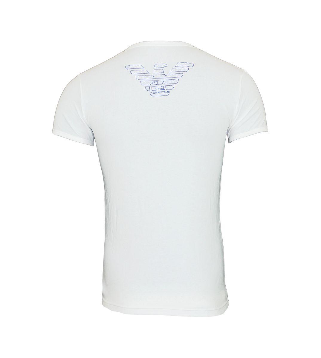 Emporio Armani T-Shirt Shirt Rundhals 111035 6A725 00010 Bianco HW17-ART