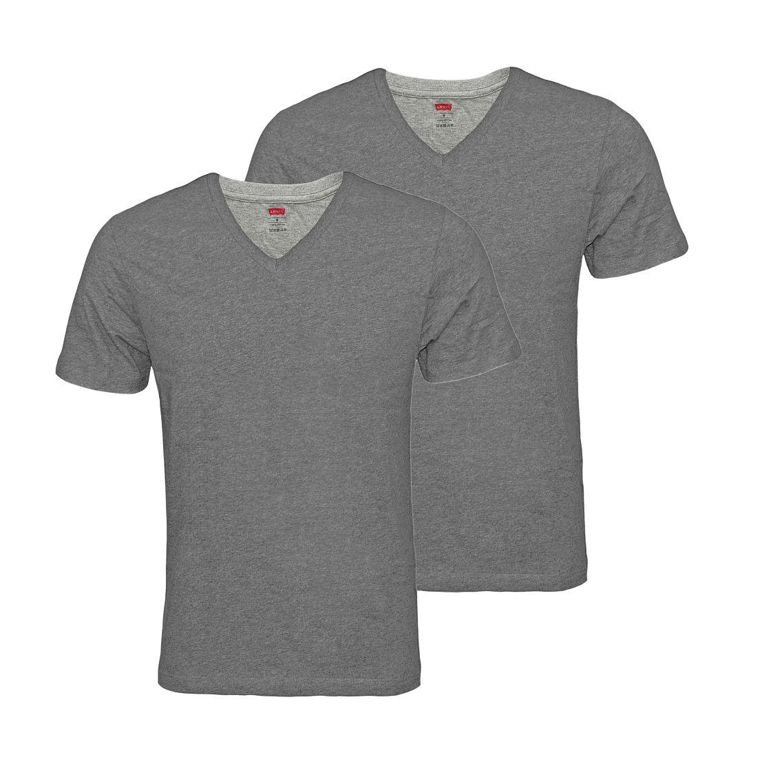 LEVIS Shirts 200SF 2er Pack T-Shirt 945004001 758 Middle Grey Melange SF17-LVSS1