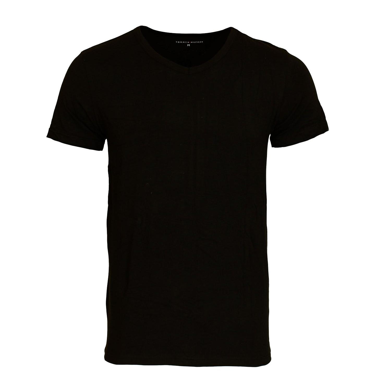 3 er Pack TOMMY HILFIGER Stretch Shirt T-Shirt Tee-Shirt schwarz V-Ausschnitt