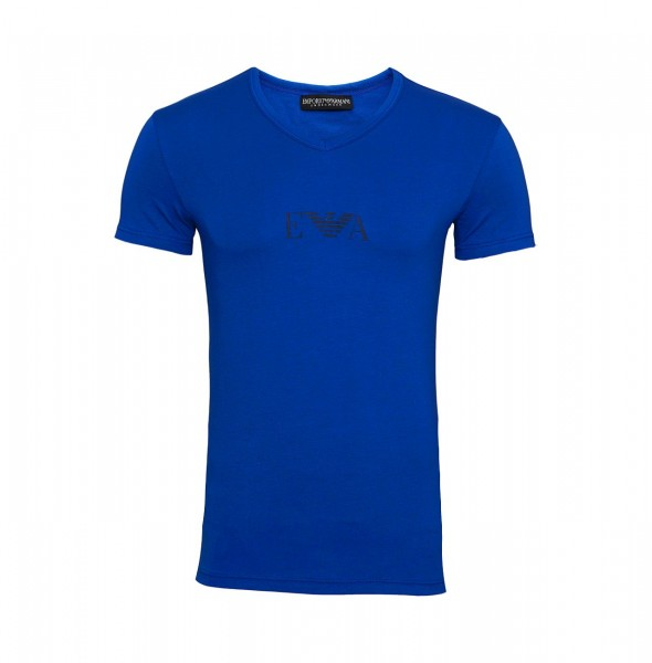 Emporio Armani T-Shirt V-Neck 110810 9A715 26433 blue SH19-EAX1