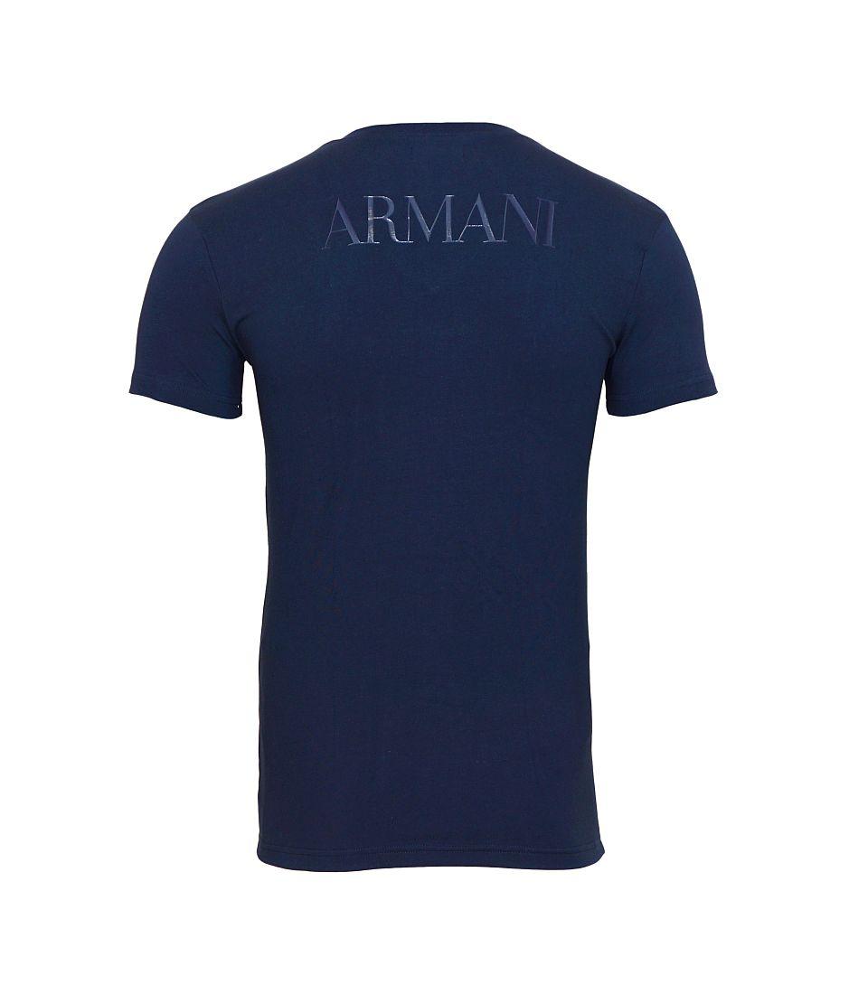 EMPORIO ARMANI T-Shirt Shirt V-Ausschnitt 110810 6A516 00135 MARINE HW16