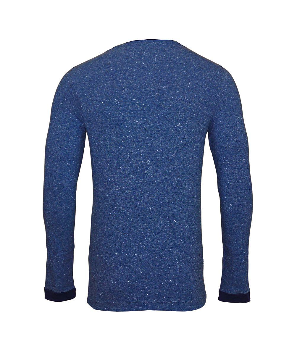 GUESS Longsleeve Langarmshirt Rundhals U74M36JR01L F761 blau HW17-GL1