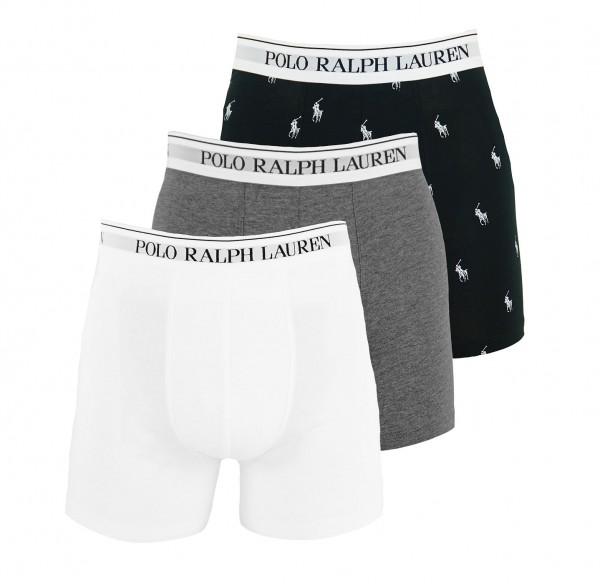 Ralph Lauren 3er Pack Shorts Boxer 71473041 0013 black, grey, white WF20-RL1