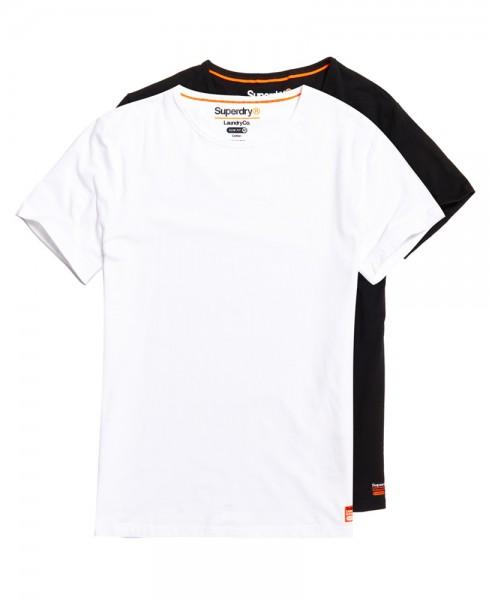 Superdry Laundry T-Shirt im 2-er Pack M31005NR weiß/schwarz WJ19-SDT2